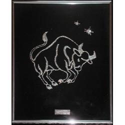Картина из страз сваровски Знак зодиака Телец малый