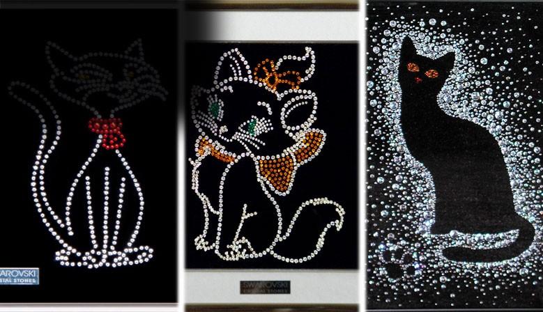 Картинки кошек их хрусталя